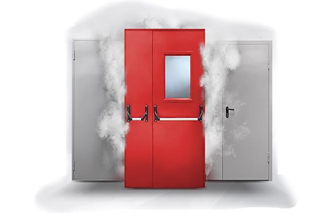 противодымные и противовзломные двери